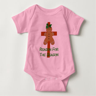 Gingerbread On A Cross Baby Bodysuit