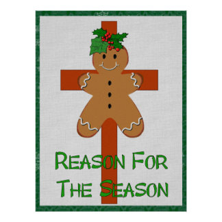 Gingerbread On A Cross Poster