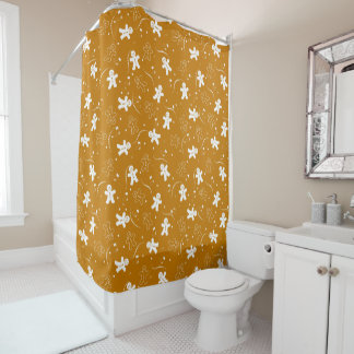 Gingerbread Pattern Shower Curtain