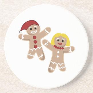 Gingerbread People Beverage Coaster