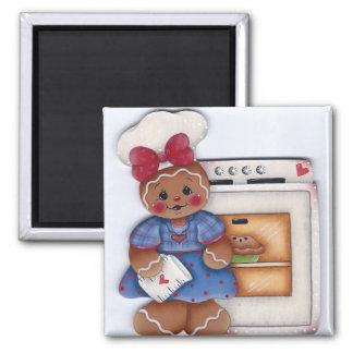 Gingerbread Pie Baker Magnet