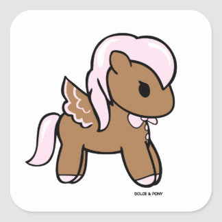 Gingerbread Pony | Square Stickers Dolce & Pony