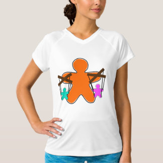 Gingerbread Puppet Womens Active Tee
