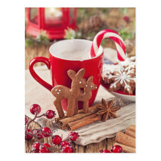 Gingerbread Reindeer Cookies Postcard