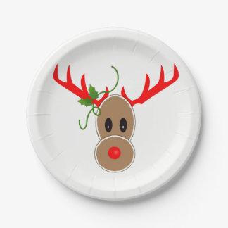 Gingerbread Reindeer Plates