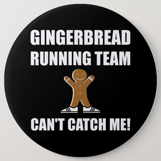 Gingerbread Running Team 6 Cm Round Badge