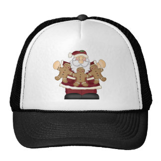 Gingerbread Santa Trucker Hat
