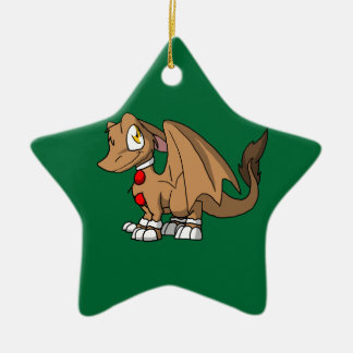 Gingerbread SD Furry Dragon Christmas Tree Ornament