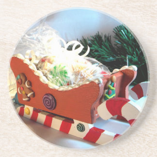 Gingerbread Sleigh I Drink Coasters