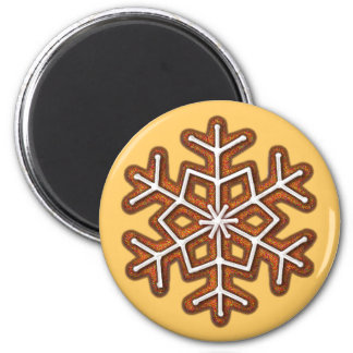 GINGERBREAD SNOWFLAKE COOKIE by SHARON SHARPE Magnet