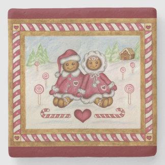 Gingerbread Stone Coaster Stone Coaster