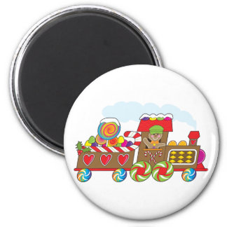 Gingerbread Train Fridge Magnets