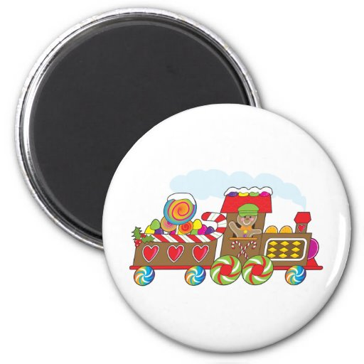 Gingerbread Train Refrigerator Magnet