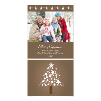 Gingerbread Tree Photocard (taupe) Personalized Photo Card