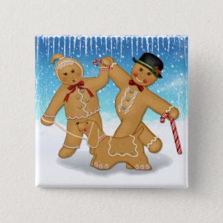 Gingerbread Trio 15 Cm Square Badge