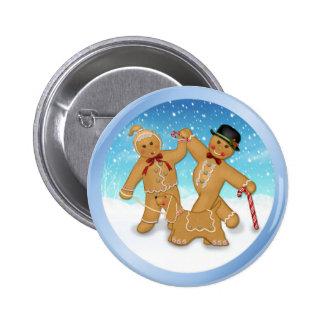 Gingerbread Trio Pinback Button