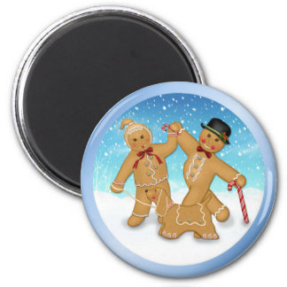 Gingerbread Trio Magnet