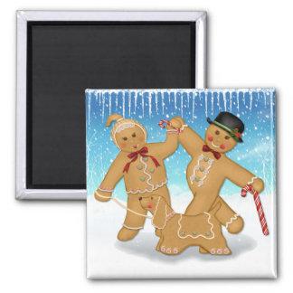 Gingerbread Trio Square Magnet