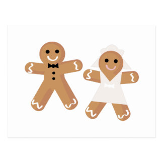 Gingerbread Wedding Postcard