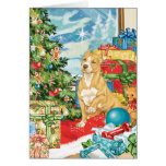 Gingerbread Wishes Pit Bull Terrier Christmas Art