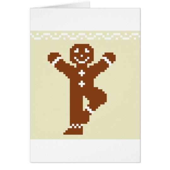 Gingerbread Yoga Tree Asana Card
