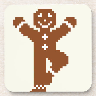 Gingerbread Yoga Tree Asana Drink Coasters