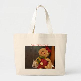 """Gingerbreadwoman, Shop """"til You Drop Canvas Bags"""