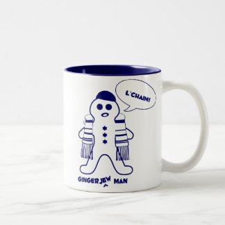 Gingerjew Man Two-Tone Coffee Mug