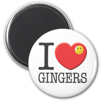 Gingers 6 Cm Round Magnet
