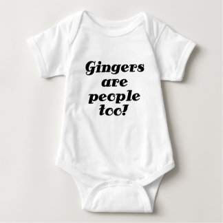 Gingers are people too baby bodysuit