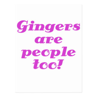 Gingers are people too postcard