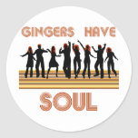 Gingers have Souls Train Round Stickers