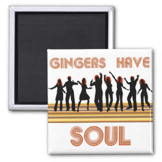 Gingers have Souls Train Square Magnet