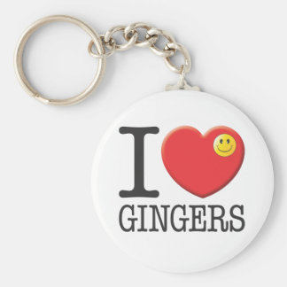 Gingers Basic Round Button Key Ring