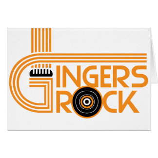Gingers Rock Card
