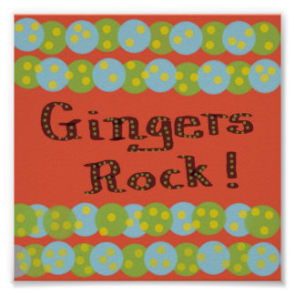 Gingers Rock Poster Poster