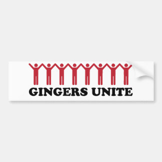 Gingers Unite Bumper Sticker
