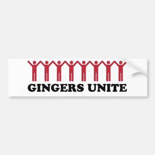 Gingers unite bumper sticker