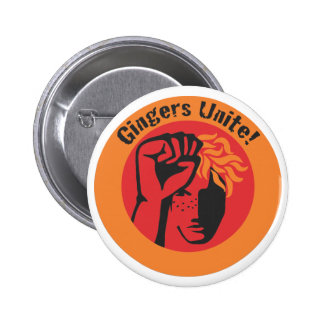 Gingers Unite Buttons