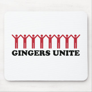 Gingers Unite Mouse Pad