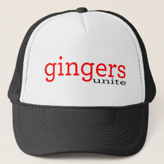 gingers unite trucker hat