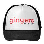 gingers unite trucker hats