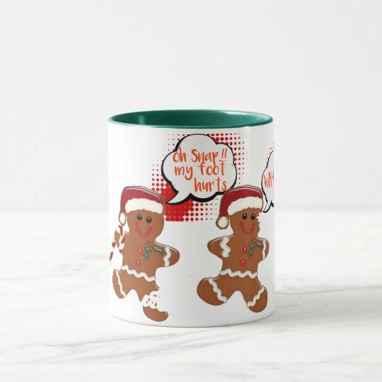 gingersnap cookie funny christmas holiday mug