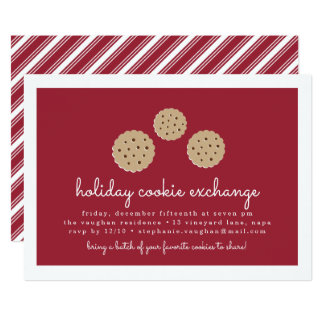 Gingersnap Holiday Cookie Exchange Invitation