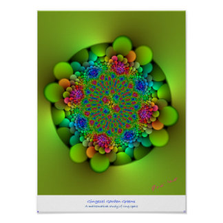 Gingezel Garden Greens Abstract Poster