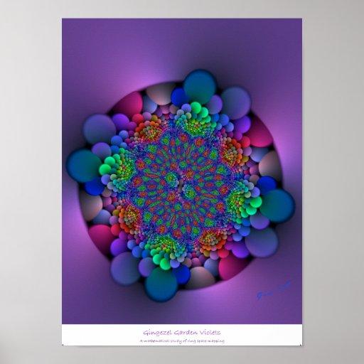 Gingezel Garden: Violets Poster