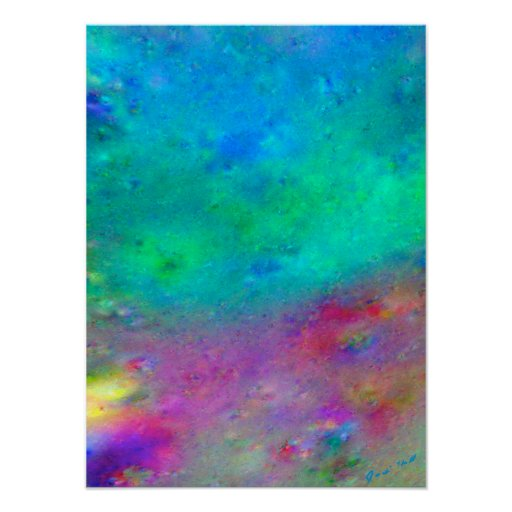 Gingezel Meadow Abstract Generative Art Print