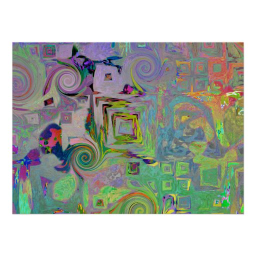 Gingezel Plains Abstract Print