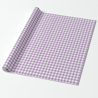 Gingham African Violet Wrapping Paper