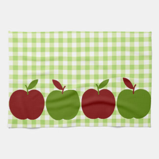 Gingham and Apples Hand Towel